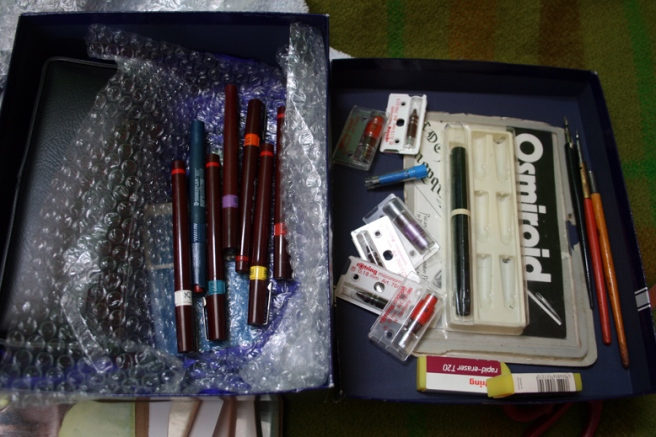 inlcuding rotring isographs, staedtler marsmatic and osmiroid fountain pens!!!