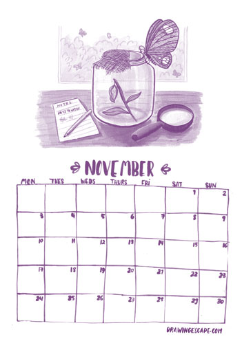 November-calendar-drawingescape-web